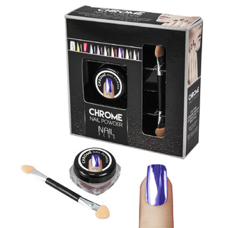 Nail Plus - Chrome Nail Powder - Light Purple