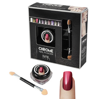 Nail Plus - Chrome Nail Powder - Wine red