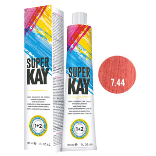 Super Kay - SUPERKAY HAIR COLOR CREAM 180 ML - BIONDO RAME INTENSO