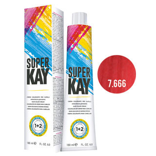Super Kay - SUPERKAY HAIR COLOR CREAM 180 ML - BIONDO ROSSO EXTRA INTENSO